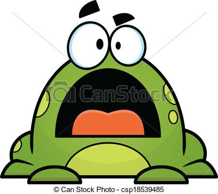 Vector of Green Cartoon Frog.