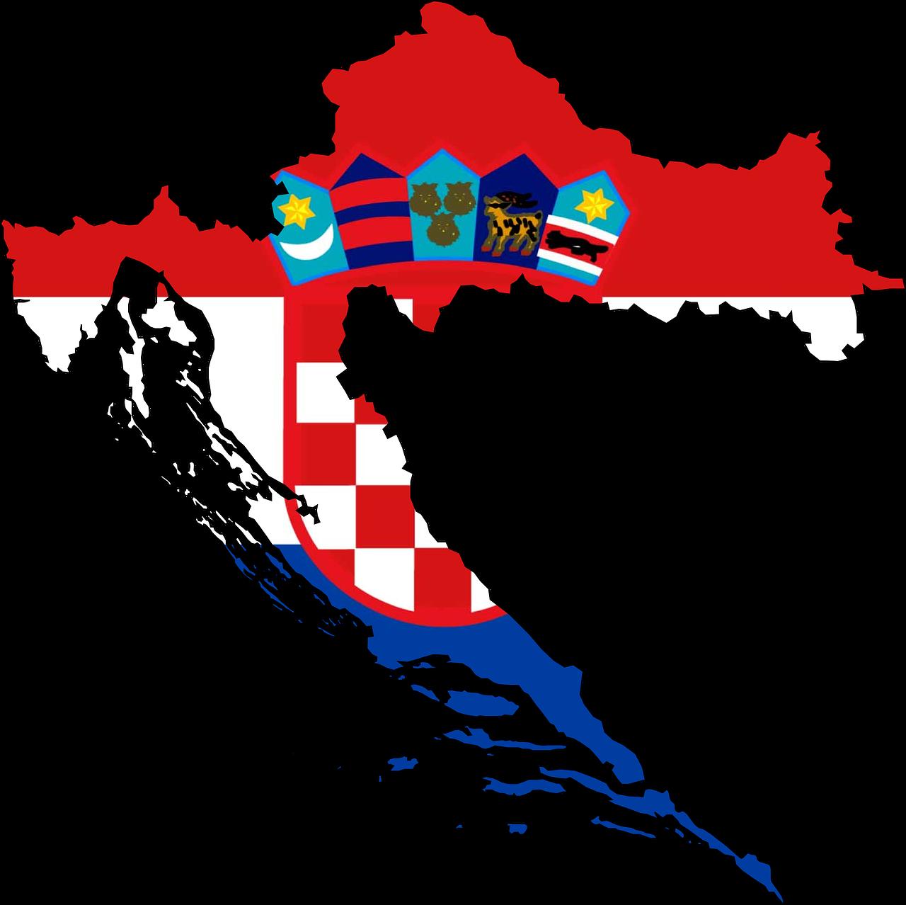 Croatia Map Flag Geography PNG.