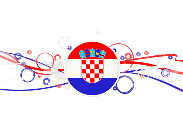 Circles with lines. Illustration of flag of Croatia.
