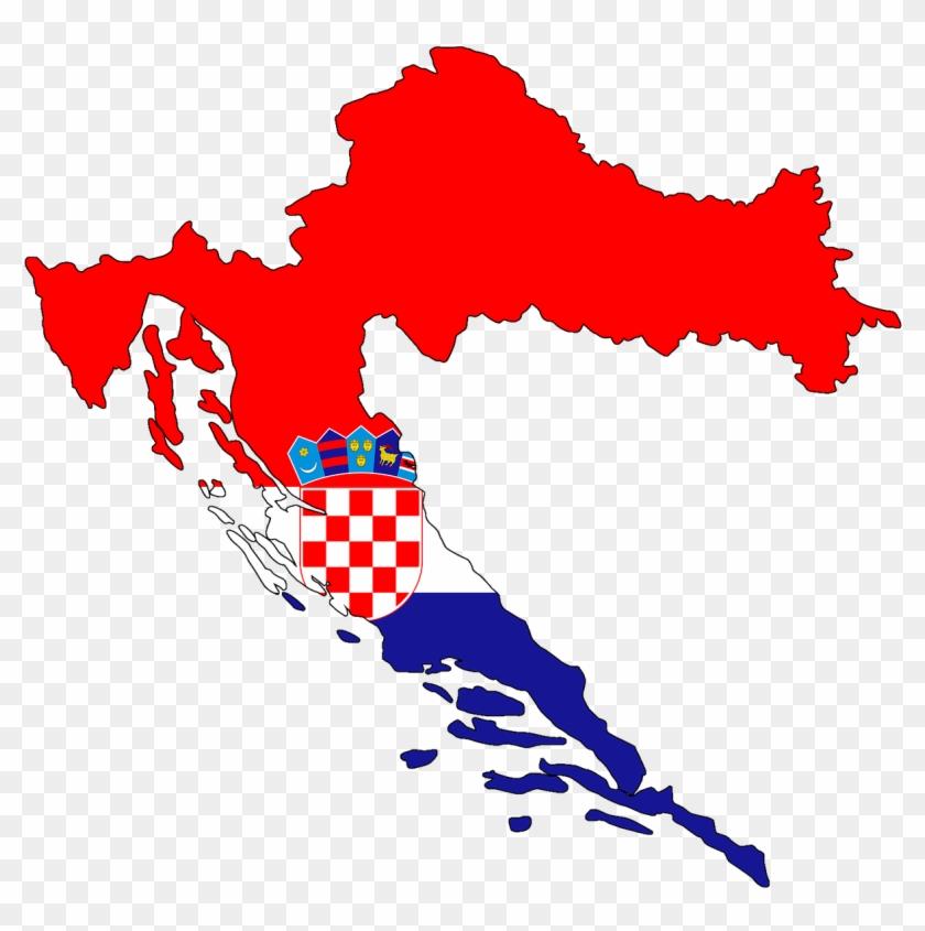 Croatia Flag Map, HD Png Download.