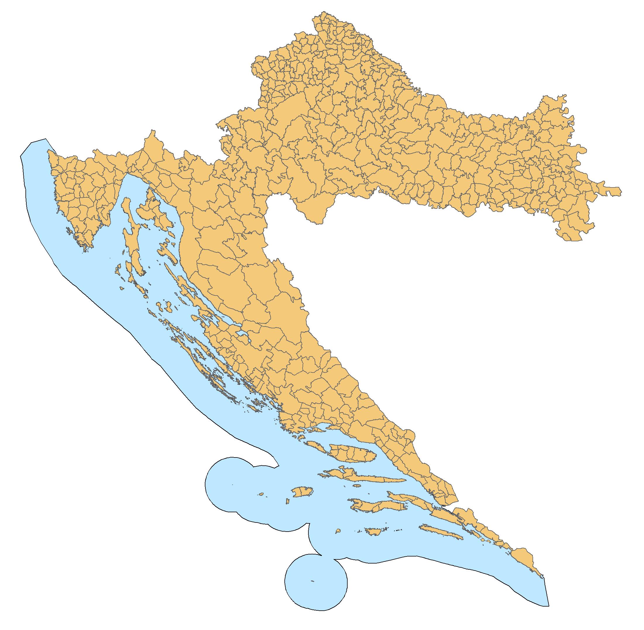 Croatia Map Municipalities • Mapsof.net.