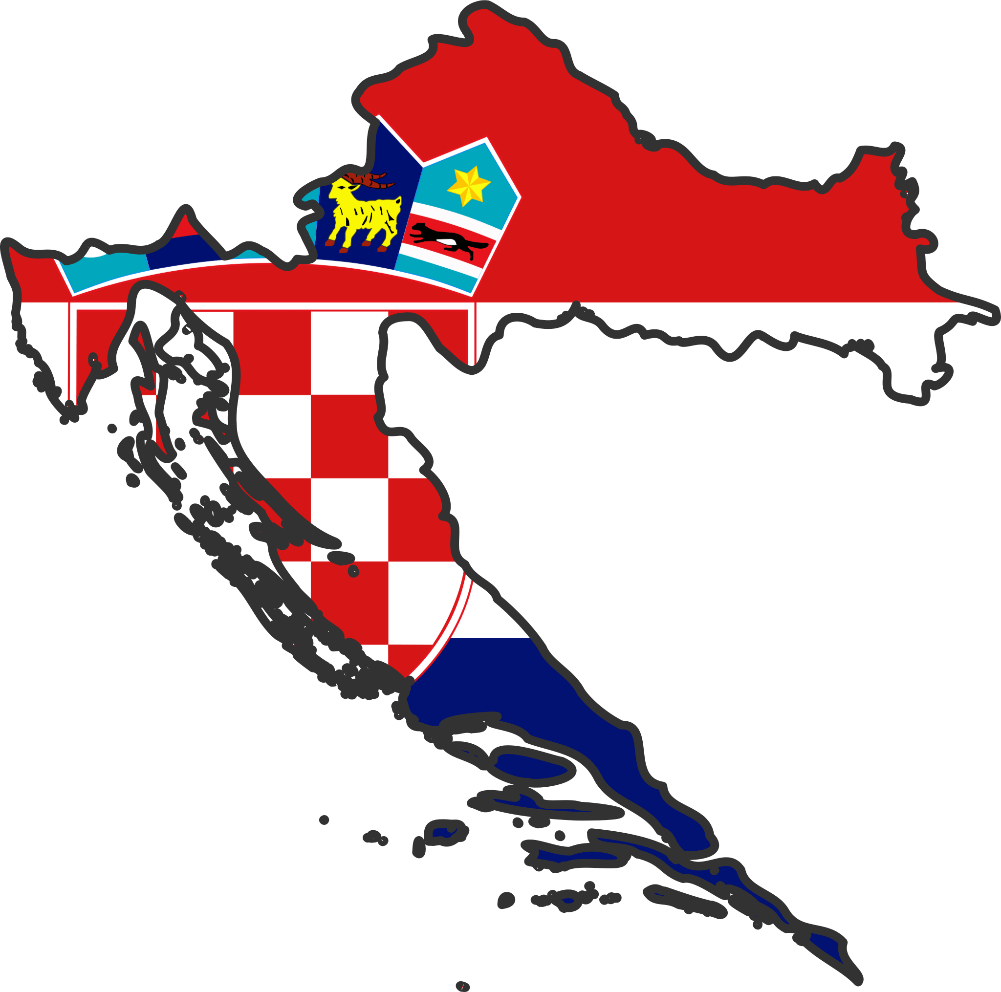 Croatia Flag Map • Mapsof.net.