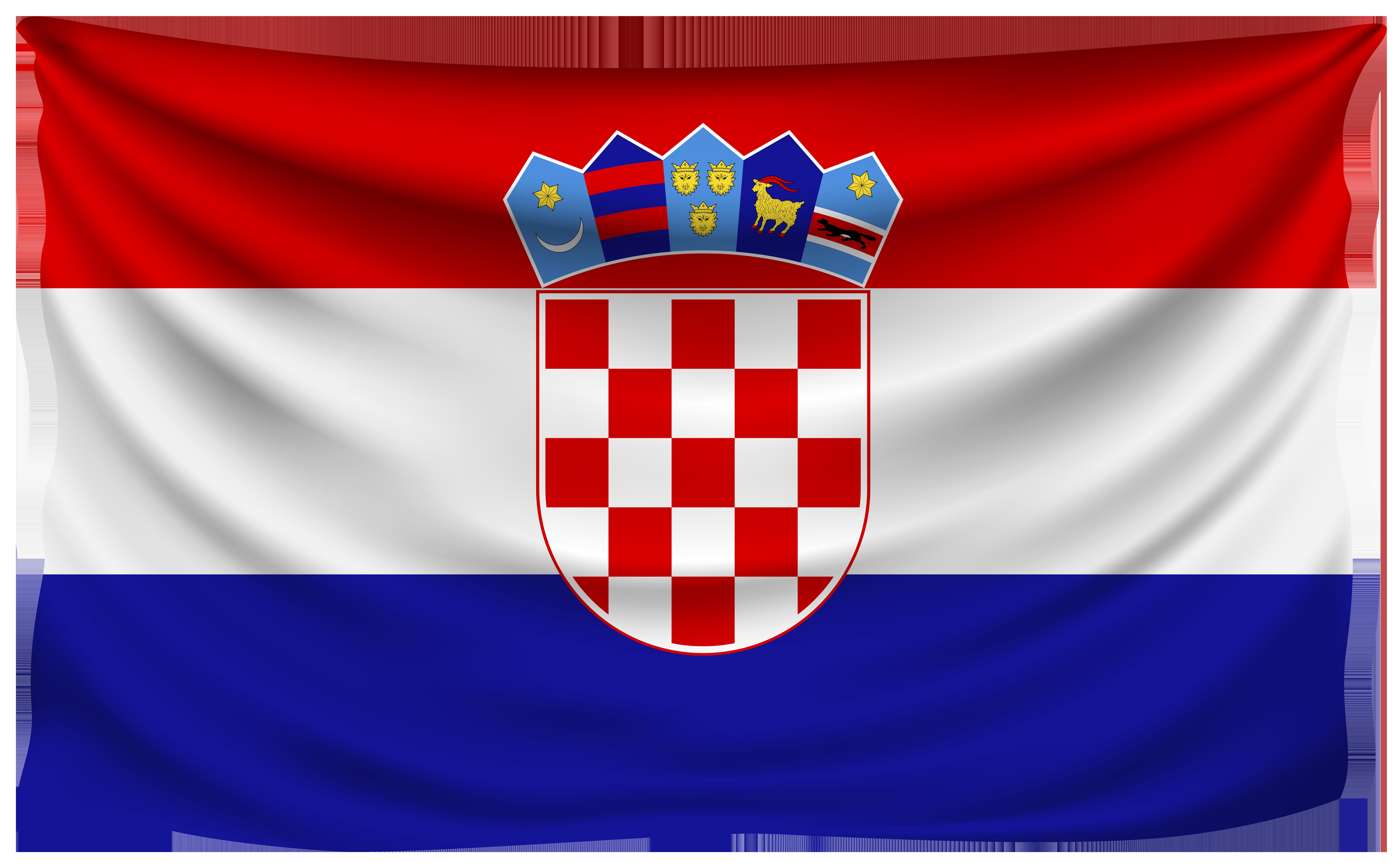 Croatia Wrinkled Flag.