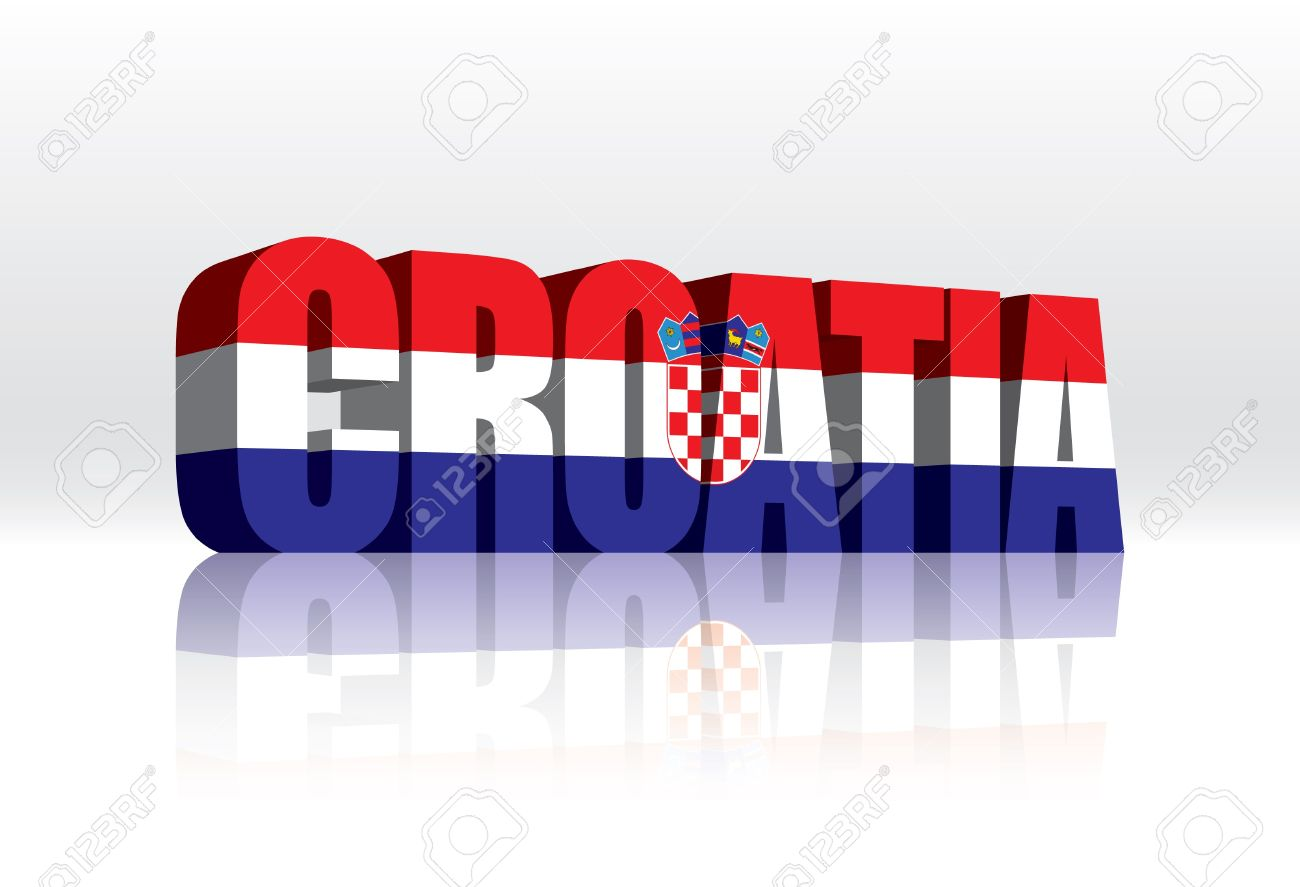 Croatian flag clipart.