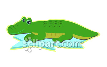 Reptiles and croc clipart image.
