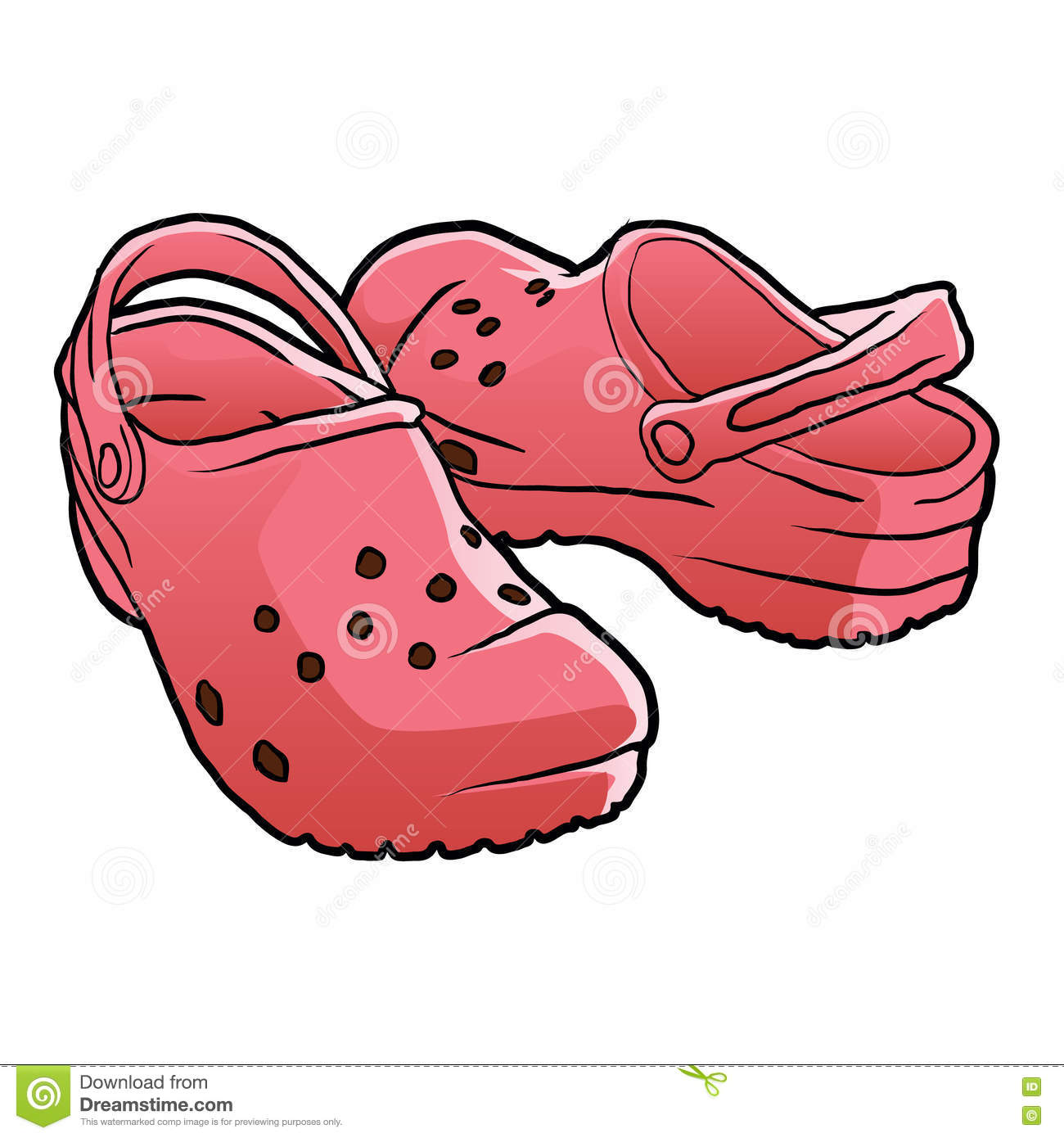 Crocs Shoes Clipart.