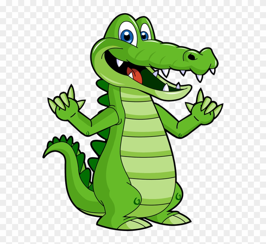 Cute Crocodile Clip Art.