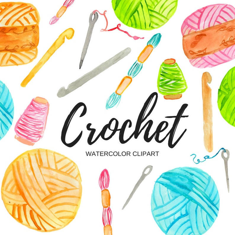 Crochet clipart.