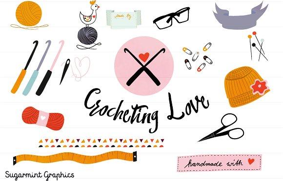 Crochet Clipart Commercial Handmade ~ Illustrations on Creative Market.