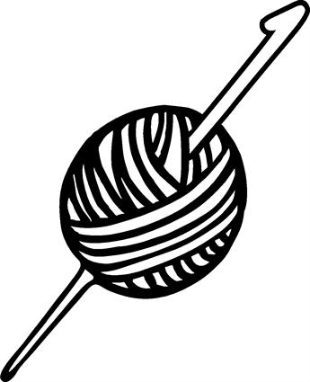 Crochet Hook Clipart Black And White.