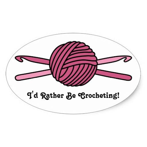 Crochet hook and yarn clip art.