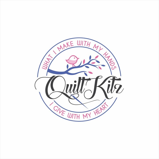 Less is More.Design a simple homemade logo for quilting.
