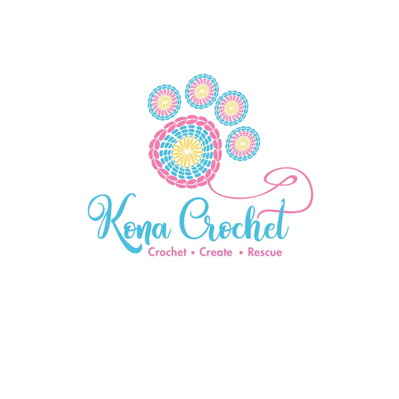 Playful, Colorful Logo Design for Kona Crochet by borzoid.