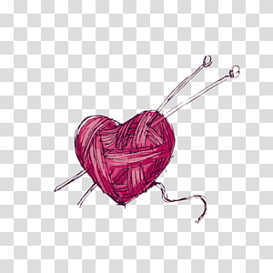 Yarn Wool Knitting , crafts transparent background PNG clipart.
