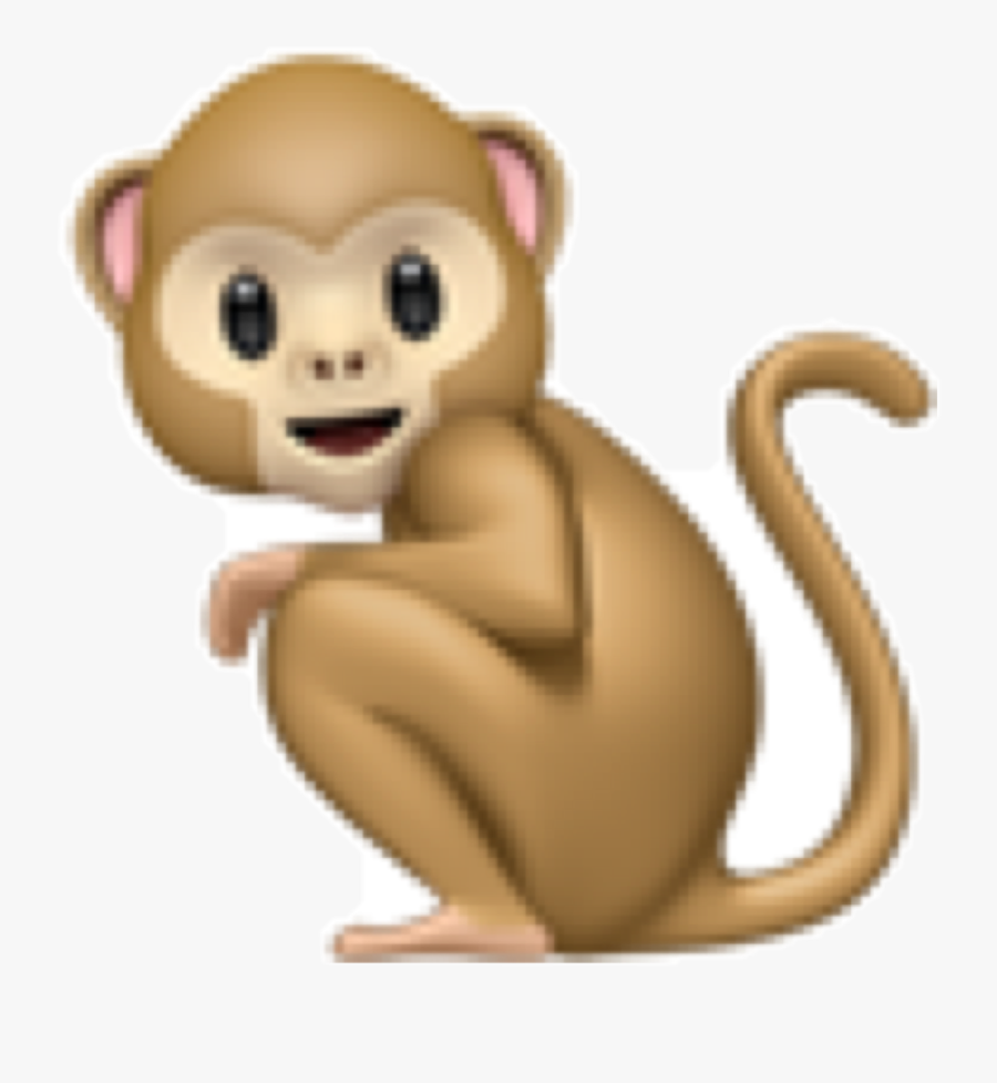 Crouching Monkey Emoji , Free Transparent Clipart.
