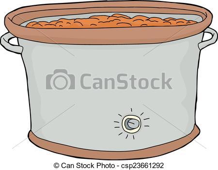 Crock Pot with Food.