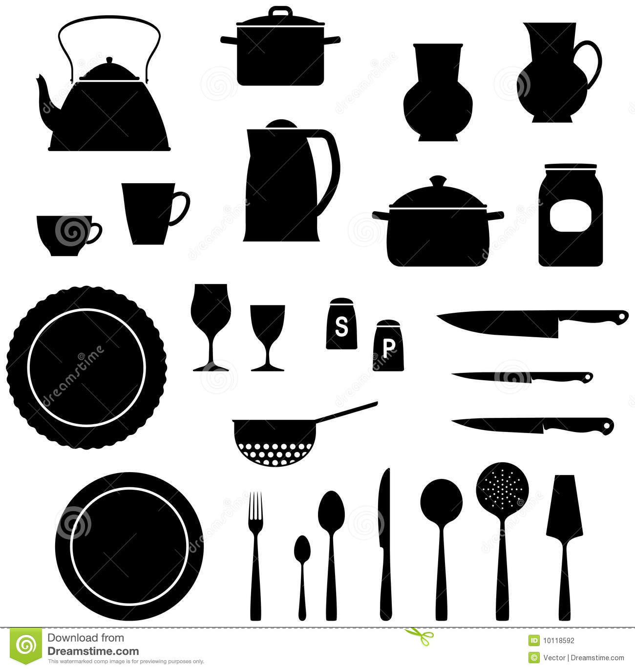 Crockery Stock Illustrations.