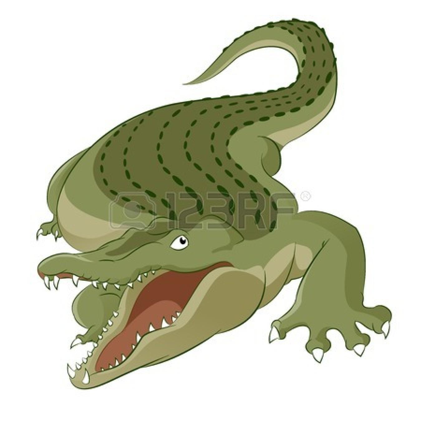 Alligator clipart crocodile clip art vector.