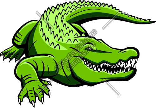 Green Gator Graphic Clipart and Vectorart: Sports Mascots.