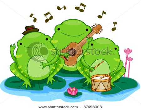 Clip art musical frog.
