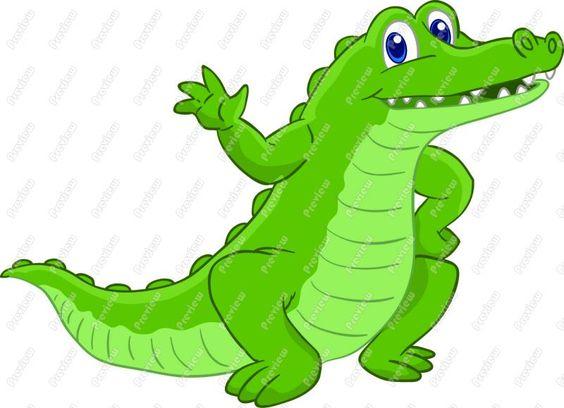 cartoon alligator clip art.