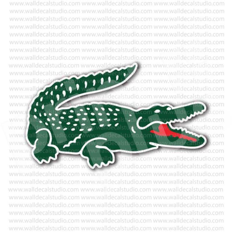 Lacoste Crocodile Clothing Brand Sticker in 2019.