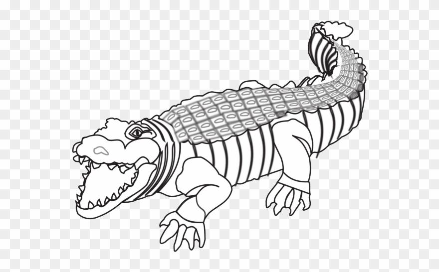 Crocodile Clipart Colour.