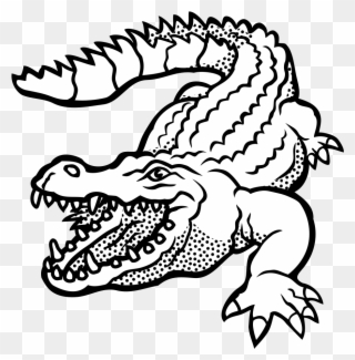 Download Free png Crocodile Lineart Crocodile Clipart Black And.