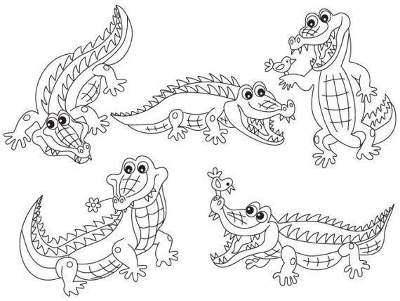 Black and white crocodile clipart 3 » Clipart Portal.