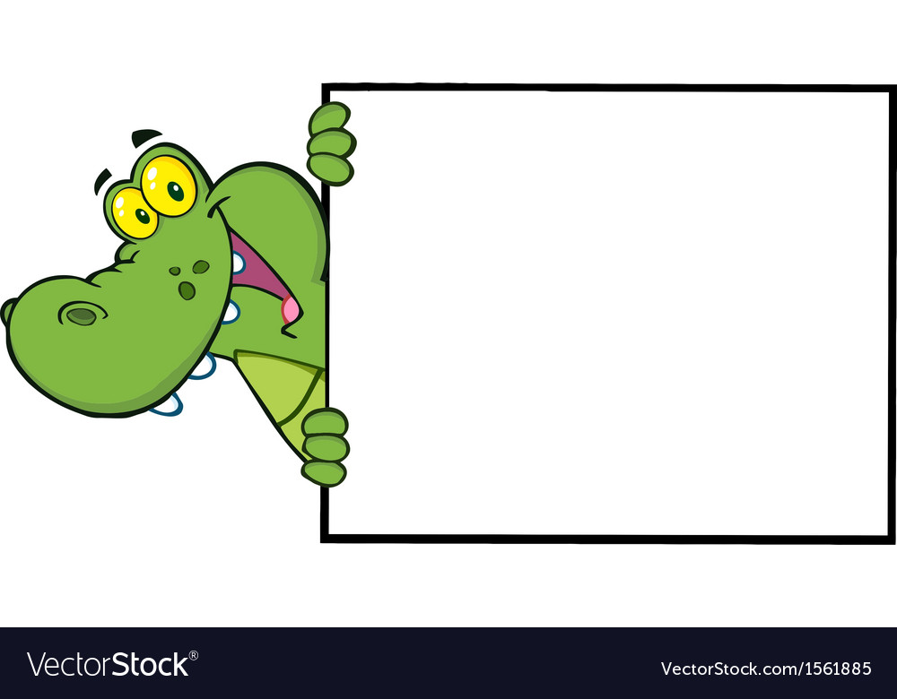Royalty Free RF Clipart Happy Crocodile Looking.