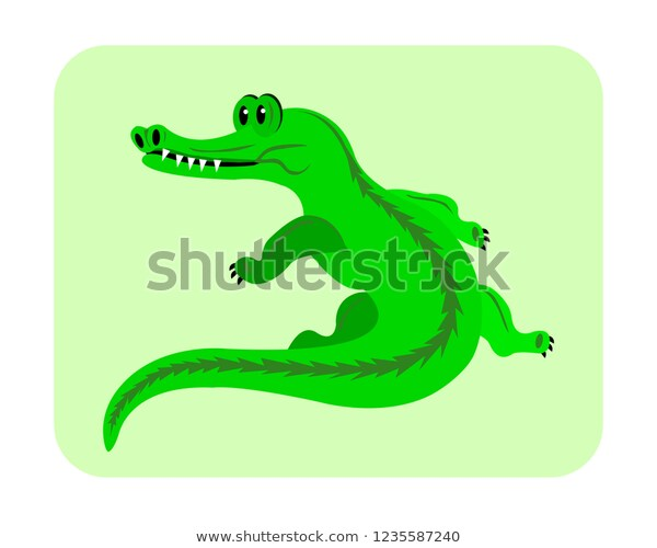 Cartoon Crocodile Clipart Vector Illustration Stock Vector (Royalty.