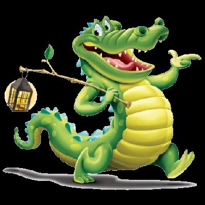 crocodile fun art.