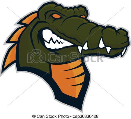 Crocodile head mascot.