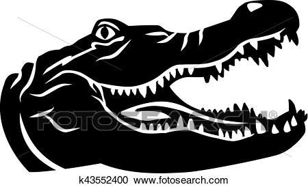 Crocodile head Clipart.