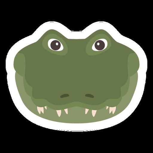 Crocodile head alligator fang flat sticker.