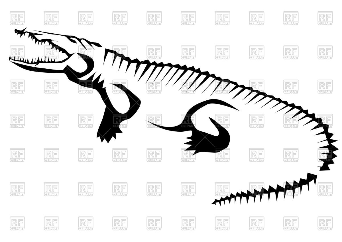 Stylized contour of crocodile (alligator).
