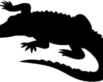 Alligator Clipart Black And White.