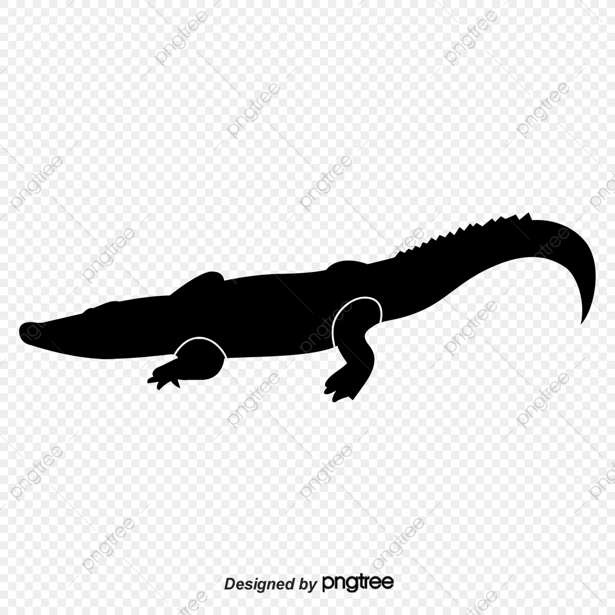 Crocodile Silhouette, Crocodile, Sketch, Crocodile Vector PNG.