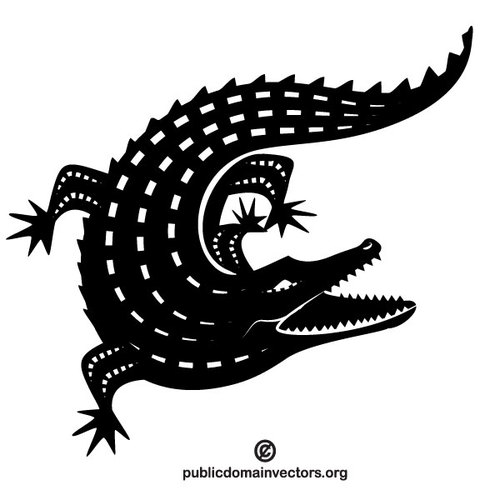 Alligator vector silhouette.