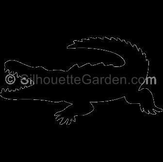 Crocodile Silhouette.