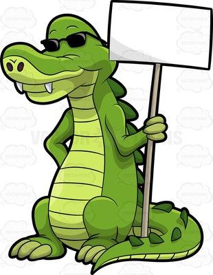 crocodilian reptile Cartoon Clipart.