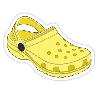 Crocs Shoe Lemon' Sticker by tlaprise.