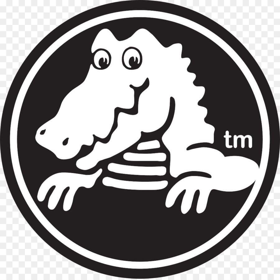 Black and White Alligator Logo.