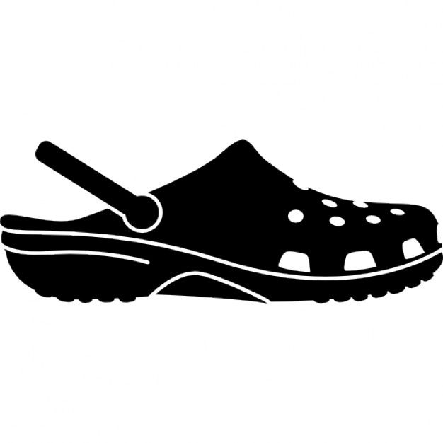 croc shoe silhouette logo.