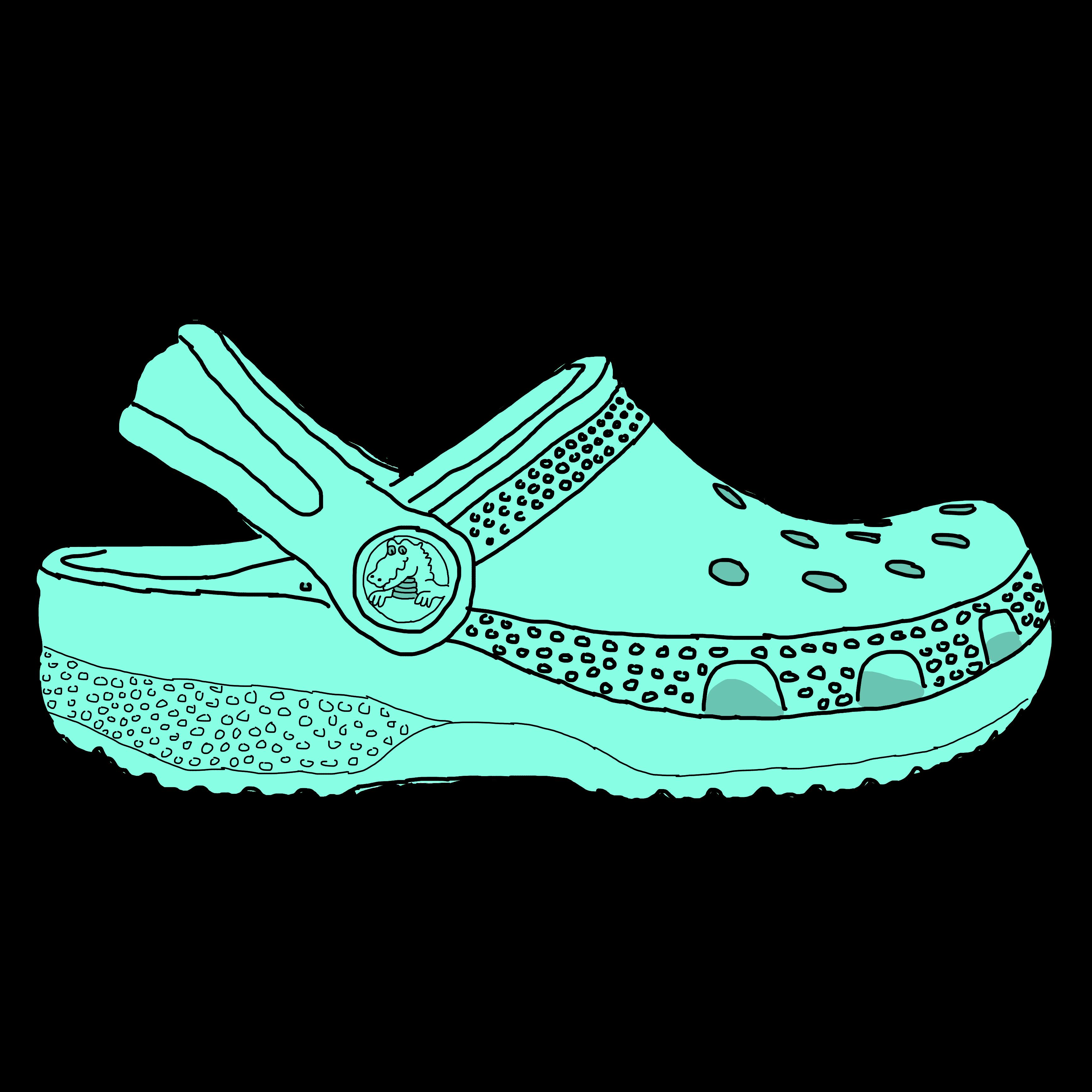 Croc Shoe Drawing.