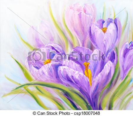 Crocuses Clipart and Stock Illustrations. 1,452 Crocuses vector.