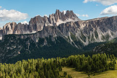 Croda Da Lago, Dolomites Stock Photography.