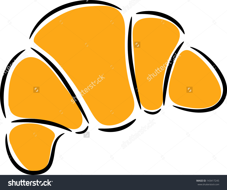 Croissant Clip Art Stock Vector 143417245.