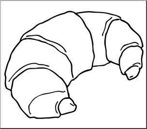 Clip Art: Croissant B&W I abcteach.com.