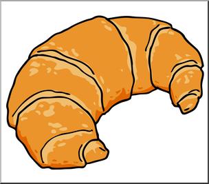 Clip Art: Croissant Color I abcteach.com.